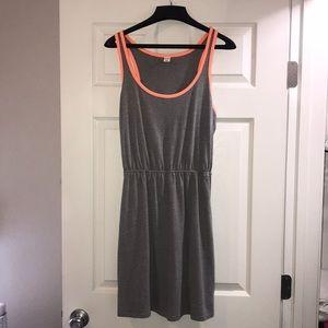 T-shirt dress with elastic waist band
